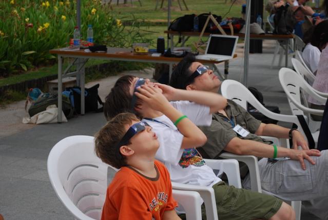 Sun eclipse 2009