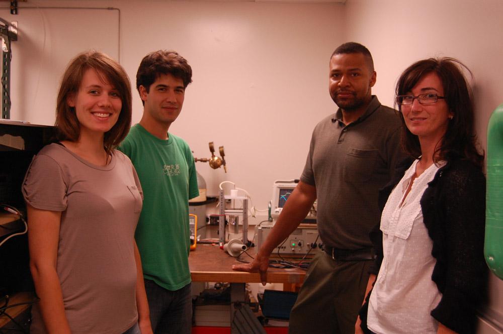 Maria Garcia in John Foster's lab